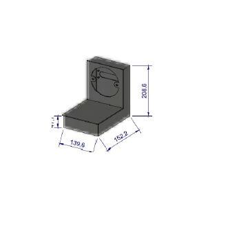 Kaminzubehör Cera Design - Zuluftstutzen, ø 125 mm - für Abgang hinten - inkl. Zuluftkasten