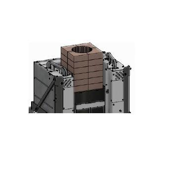 Kaminzubehör Cera Design - Wärmespeicherstein für KLC, Rauchrohranschluss (oben)