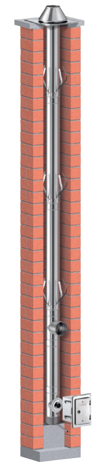 Schornsteinsanierung einwandig Ø 150 mm - Schiedel PRIMA PLUS