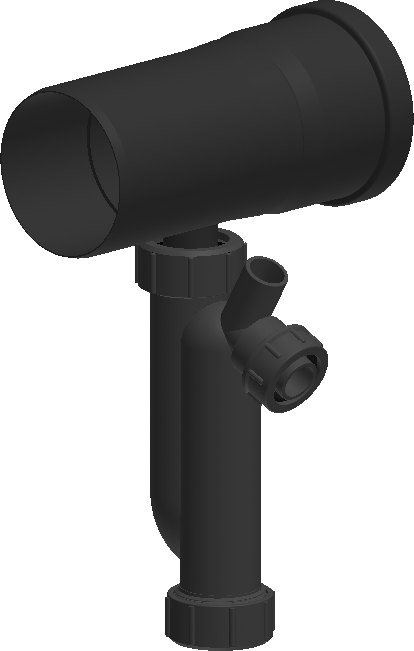 Kondensatablauffalle für horizontalen Einbau inkl. Siphon - Kunststoff für Jeremias EW-PPS