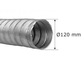 Flexrohr einlagig Ø 120 mm, Edelstahl
