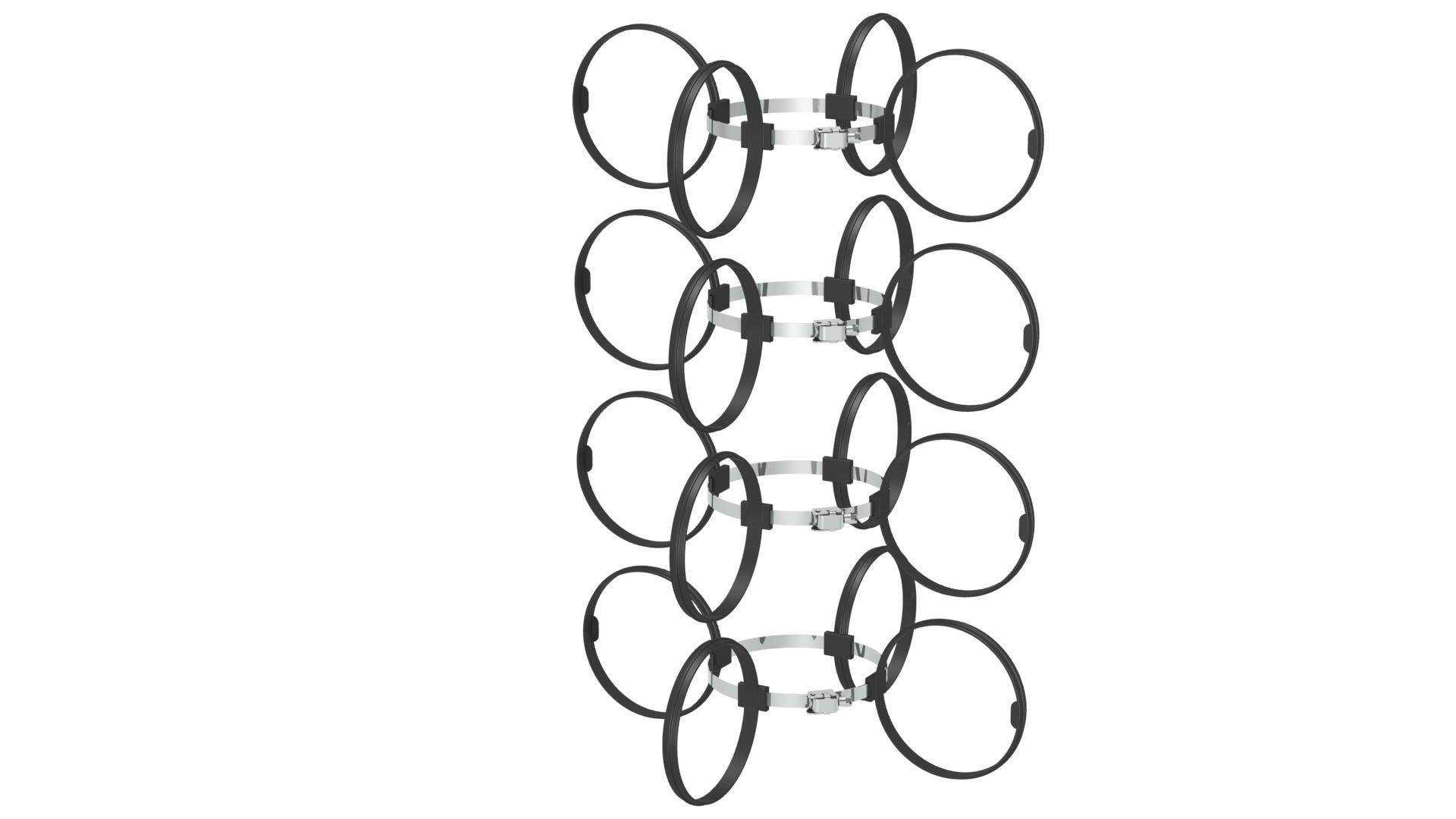 Montageschelle 4 Stück / Abstandshalter - Kunststoff für Jeremias EW-PP-FLEX