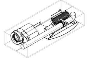 Pelletofenzubehör MCZ - X – Up! Anschlussstück für Koaxiale rauchabzüge- Ø mm 80/130