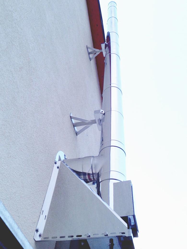 Edelstahlschornstein Bausatz Ø 200 mm / doppelwandig / Tecnovis TEC-DW-Standard