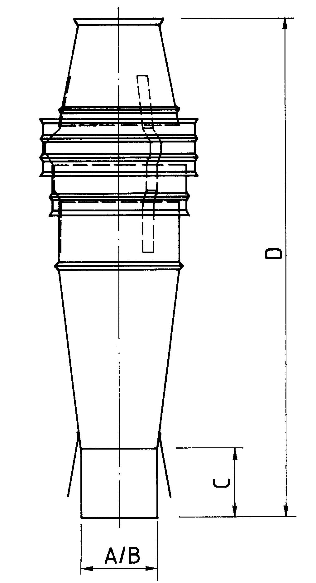 Schornsteinaufsatz einwandig - Sorex Kegel - 330 mm Höhe