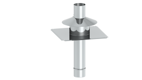 Kopfabdeckung inkl. Mündungsrohr aus Edelstahl und Wetterkragen - EW-PPS / EW-PP-FLEX