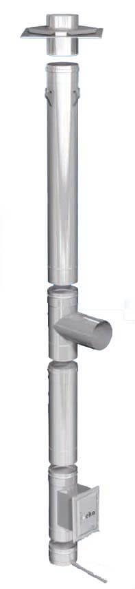 Schornsteinsanierung einwandig Ø 130 mm - eka Edelstahlkamine Complex E