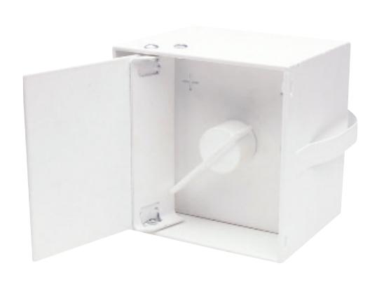 Lufklappengriffe quadratisch - 79x79 mm mit Deckel - CB-tec