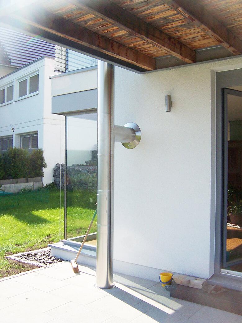 Edelstahlschornstein Ø 150 mm  / doppelwandig / Tecnovis TEC-DW-Design
