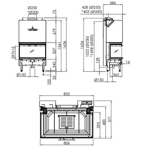 Kamineinsatz SPARTHERM Arte 3RL-80h 11,4kW Panoramakamin Schiebetür