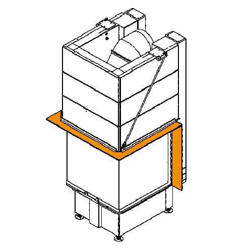 Kaminzubehör Spartherm - Blendrahmen für Arte 3RL-80h