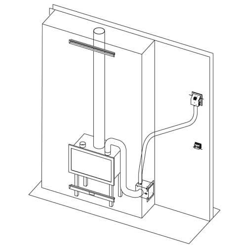 Kaminzubehör Edilkamin - Kit air Difuser inkl, Werkzeug kanalisierte Luft