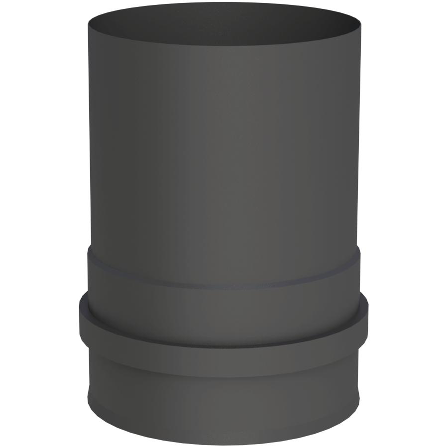 Pelletofenrohr - Kesselanschluss mit Muffe schwarz - Jeremias Pellet-Line