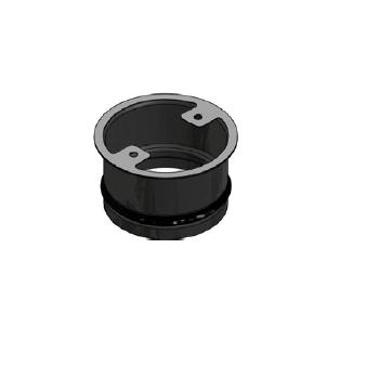 Kaminzubehör Cera Design - Zuluftstutzen, ø 125 mm - für Abgang hinten