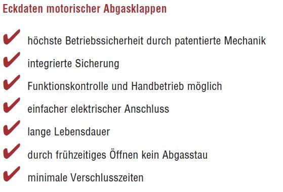 Motorische Abgasklappe MOK / MOK AD von Kutzner & Weber