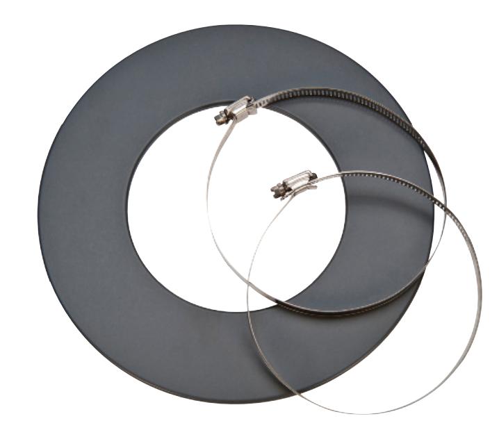 Rosette mit 2 Schlauchklemmen - CB-tec