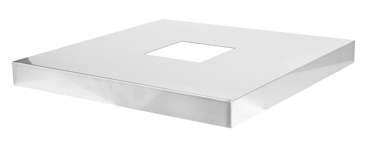 Kaminabdeckplatte aus Edelstahl
