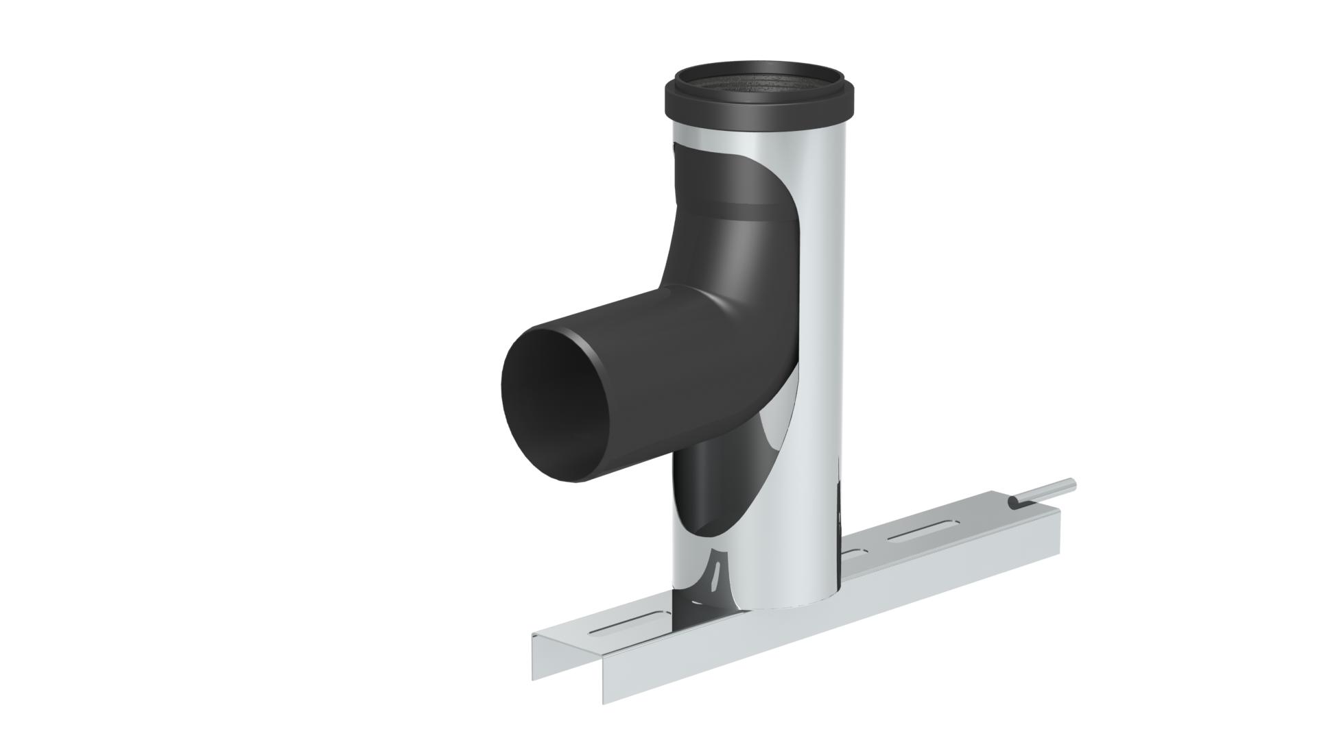 Winkel 87° mit Stützfuß und Auflageschiene - Kunststoff - Jeremias EW-PPS und EW-PP-FLEX