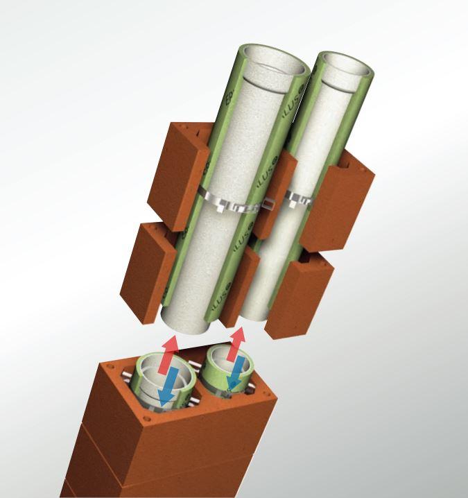 LAF - Keramikschornstein L - Innendurchmesser 160/140 mm