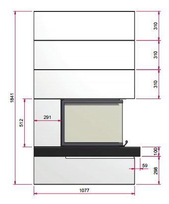 Kaminbausatz Camina S15 9kW Speicheranlage inkl. Feuertisch