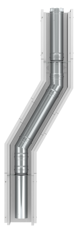 Leichtbauschornstein Bausatz F90 mit Ø 250 mm Innenrohr – Tecnovis