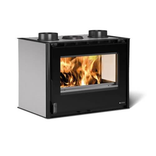 Kamineinsatz La Nordica Inserto 70 Crystal Angolo - Ventilato 9,2 kW