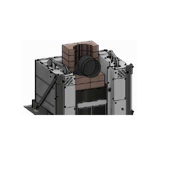 Kaminzubehör Cera Design - Wärmespeicherstein für KLC, Rauchrohranschluss (hinten)