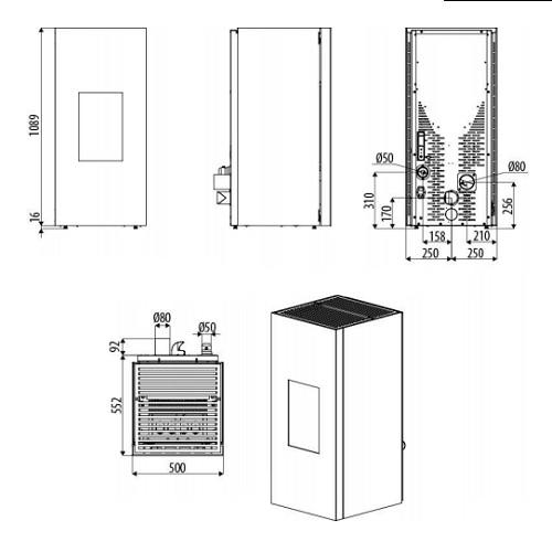 Pelletofen MCZ AIKE Comfort Air Maestro 8,1kW