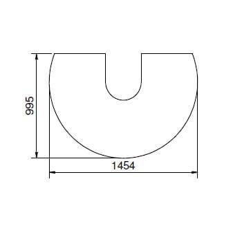 Kaminzubehör Cera Design - Glasvorlegeplatte, 6 mm (passend zu drehteller)
