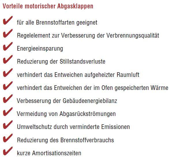 Motorische Abgasklappe MUK D von Kutzner & Weber