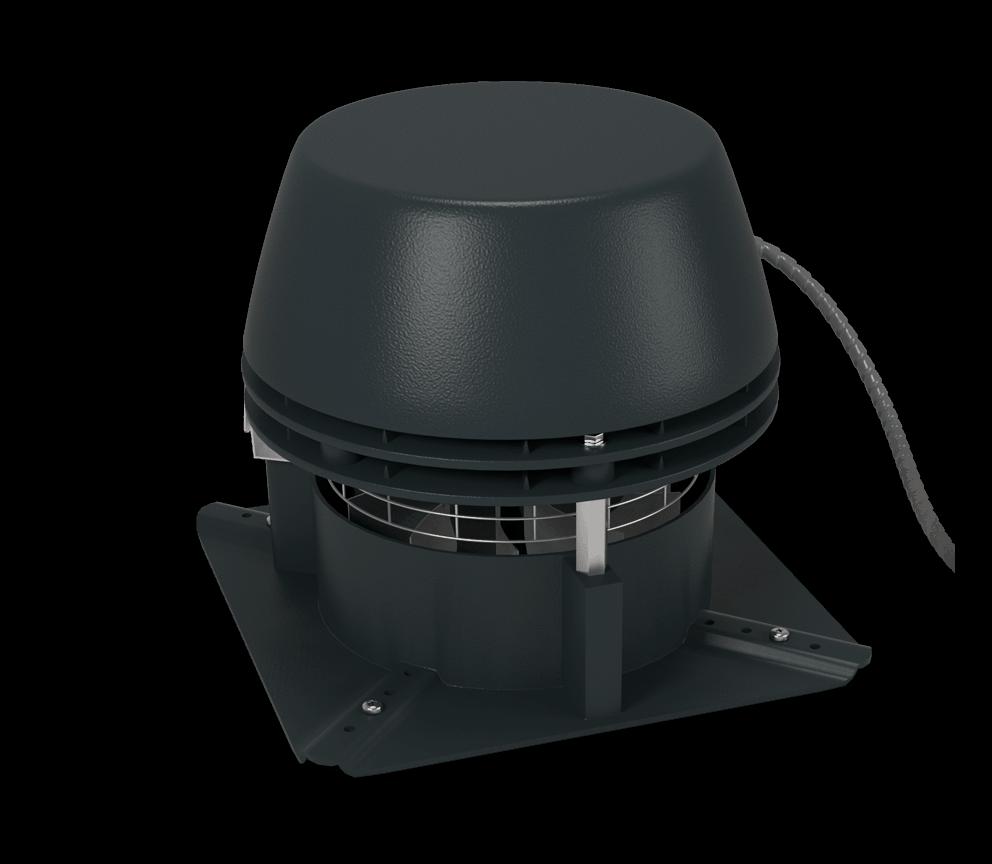 Rauchsauger Exodraft RS mit 4-eckiger - horizontal auswerfend