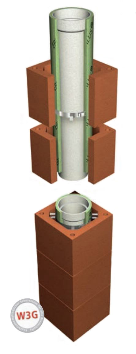 LAF - Keramikschornstein L - Innendurchmesser 140 mm