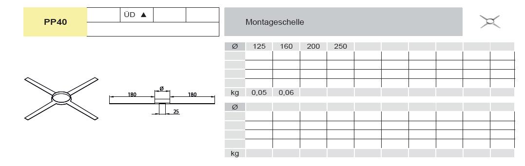 Montageschelle Kunststoff für Jeremias EW-PPS
