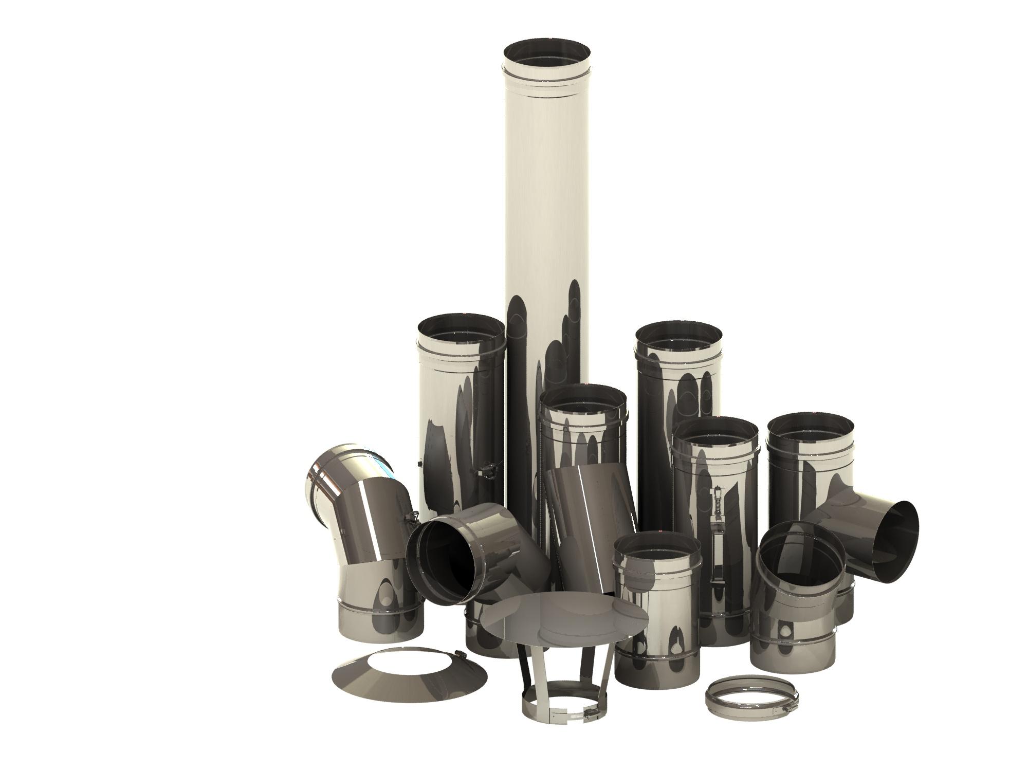 Schornsteinsanierung einwandig Ø 180 mm – Tecnovis TEC-EW-Classic