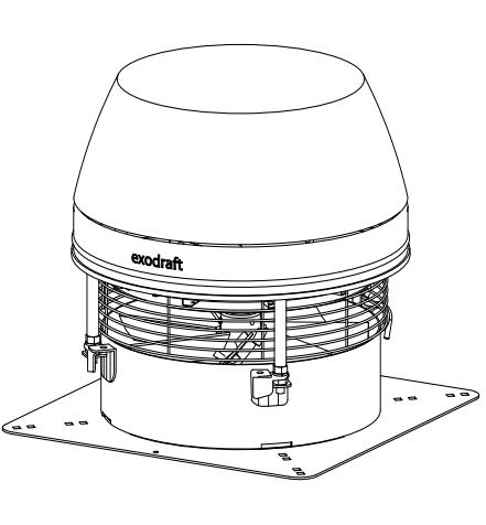 Rauchsauger Exodraft RSHT - horizontal ausblasend, Hochtemperaturbeständig