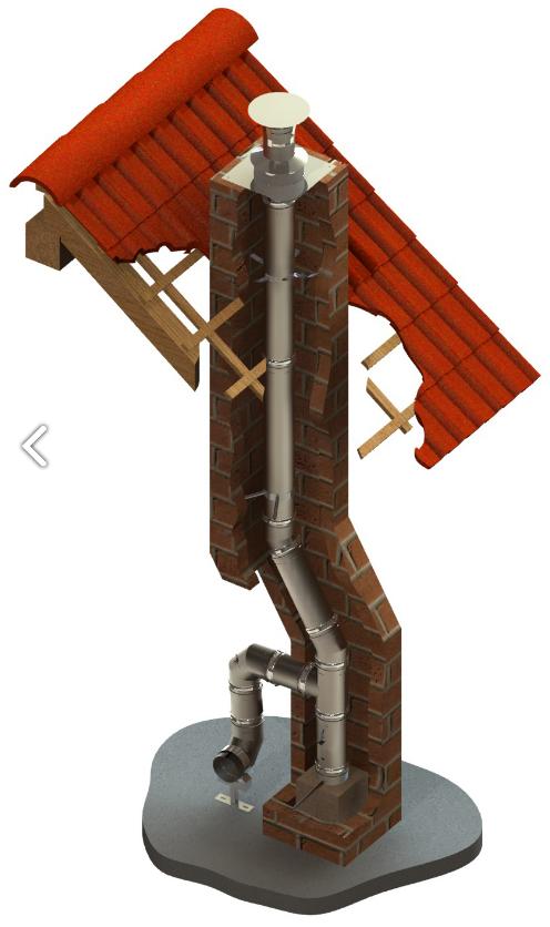 Schornsteinsanierung einwandig Ø 100 mm - Jeremias EW-SILVER