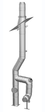 Edelstahlschornstein Bausatz Ø 180 mm - doppelwandig - Jeremias DW-Mammut