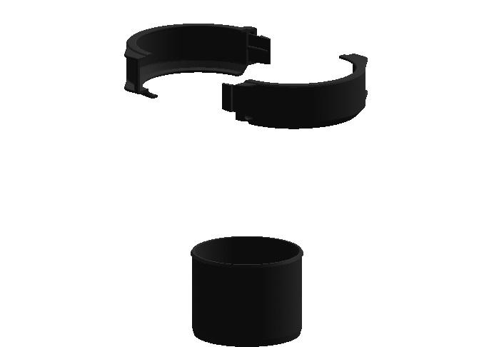 Montageset 1 (Fixschelle und Hülse) - Kunststoff Jeremias EW-PP-FLEX
