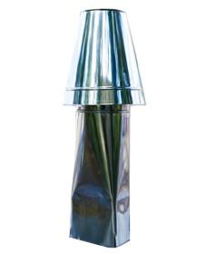 Schornsteinaufsatz einwandig - Kegel Haube - 2300 mm Höhe