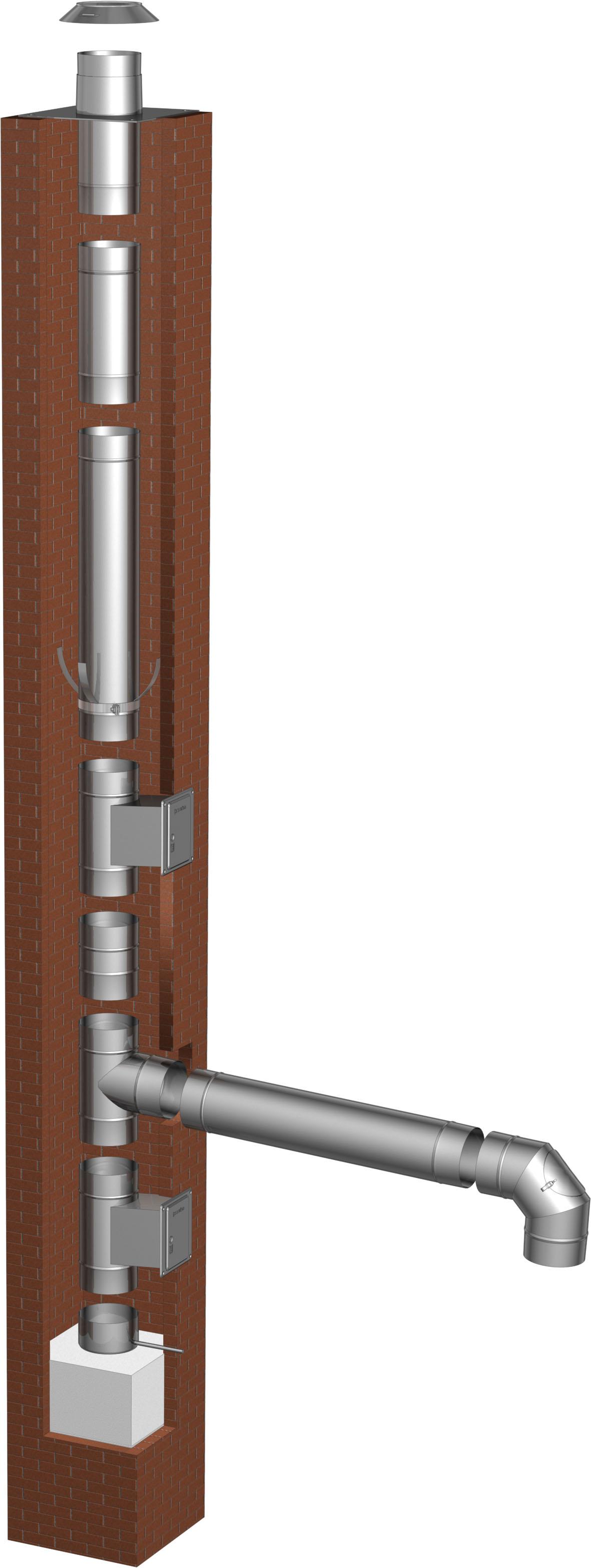Schornsteinsanierung einwandig Ø 120 mm – Tecnovis TEC-EW-Classic