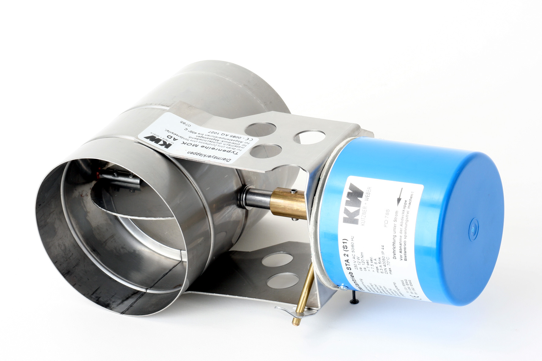 Motorische Abgasklappe MUK von Kutzner & Weber