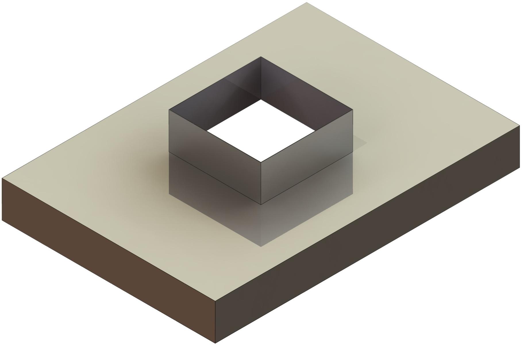 Kaminabdeckplatte aus Kupfer