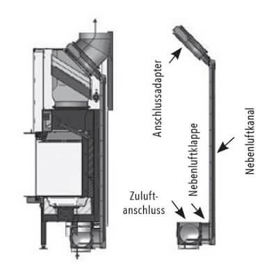 Kaminzubehör Spartherm - S-Kamatik-2 für Premium A-3RL-80h