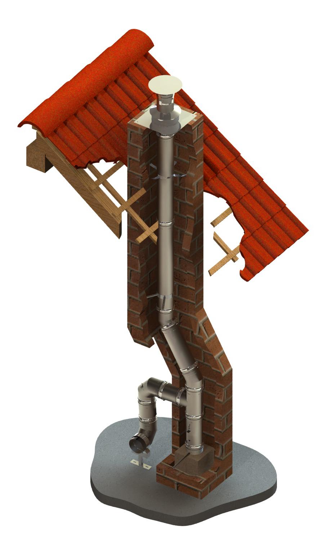 Schornsteinsanierung einwandig Ø 150 mm – Tecnovis TEC-EW-Classic