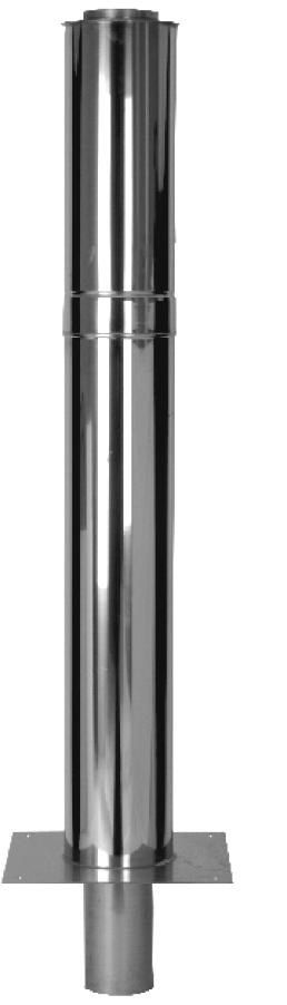 Doppelwandige Schornsteinverlängerung – 500 mm wirksame Höhe