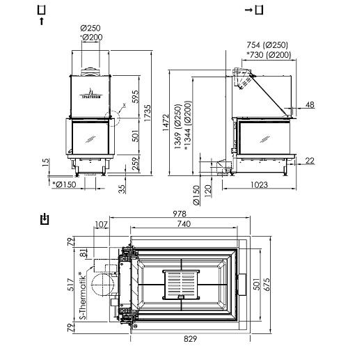 Kamineinsatz SPARTHERM Premium A-U-70h 11,4kW Panoramakamin Schiebetür