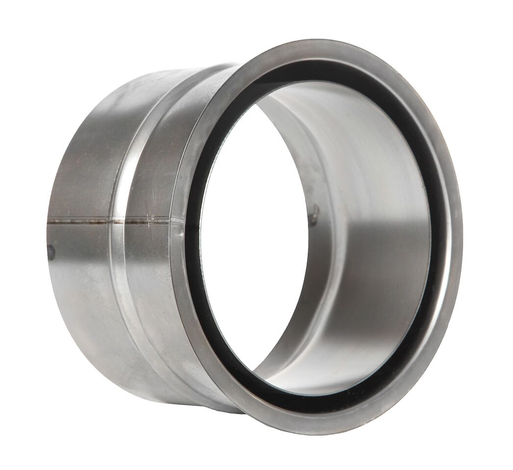 Ofenrohr - Wandfutter doppelt 100 mm unlackiert - Tecnovis TEC-Stahl