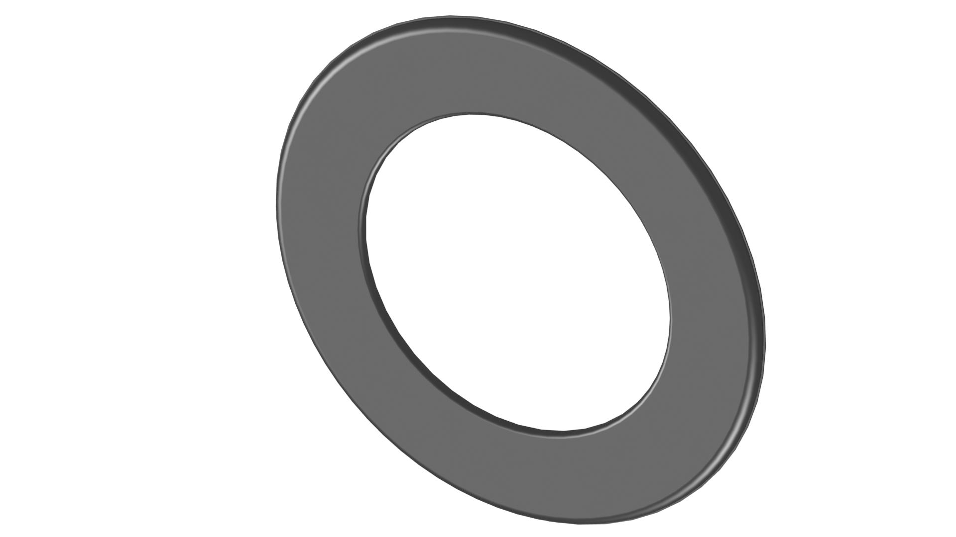 Ofenrohr - Wandrosette 55 mm schwarz - Tecnovis TEC-Stahl