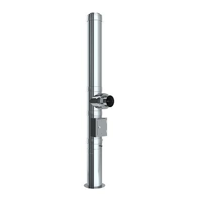 Edelstahlschornstein Bausatz Ø 130 mm / doppelwandig / Tecnovis TEC-DW-Standard