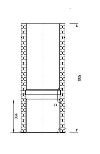 Jeremias-Anschlussstück Kaminofen / Pelletofen für aufgesetzten Anschluss
